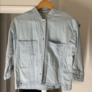 Women's Zara lightweight cropped over shirt